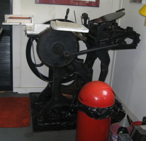 our 1906 C&P Platen Press