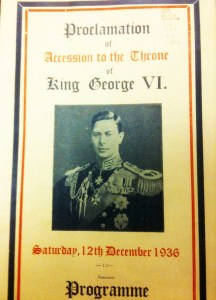 Accession proclamation King George VI