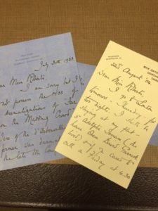 Mrs. Hardy's Letters to Dr. Roberts