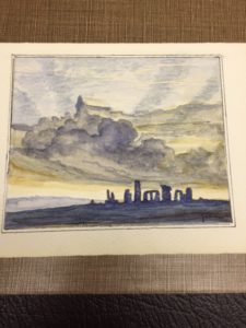 Sketch of Stonehenge