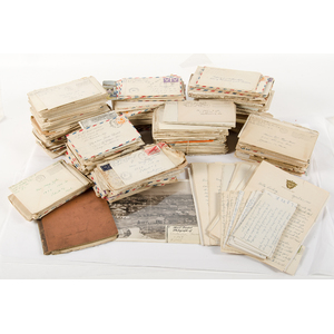 Stacks of World War II letters