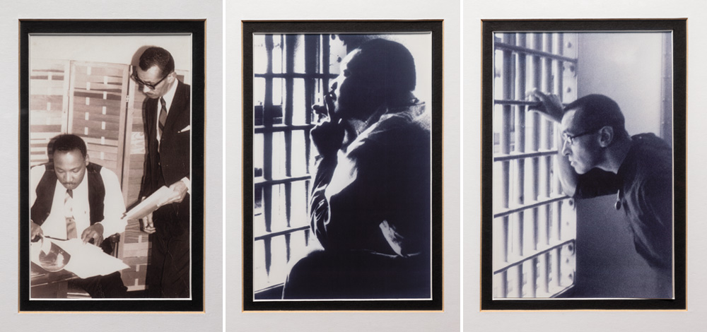 Image of three photographs of Drs King and Walker